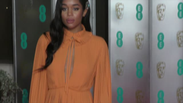 laura harrier on february 10 2019 in london england - british academy film awards stock videos & royalty-free footage