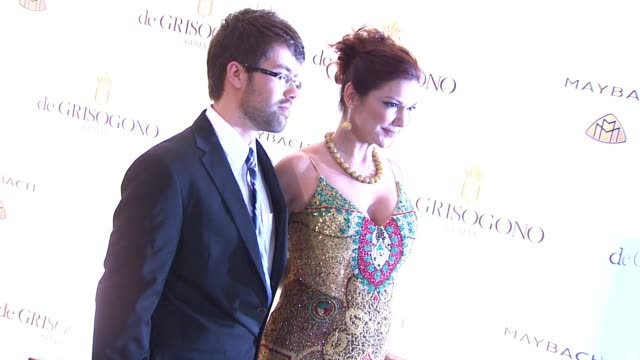 laura harring and guest at the de grisogono party cannes film festival 2010 at antibes - laura harring stock videos & royalty-free footage