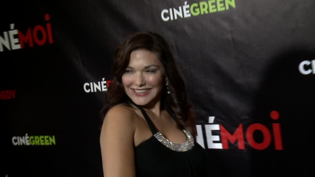 laura harring at cinemoi international lifestyle television network says bonjour ciao to american viewers with their us launch party on 10/2/12 in... - laura harring stock videos & royalty-free footage