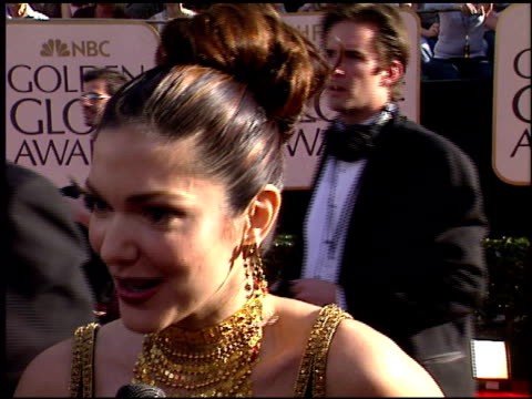 laura harring at the 2003 golden globe awards at the beverly hilton in beverly hills california on january 19 2003 - laura harring stock videos & royalty-free footage