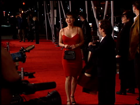 laura harring at the 'lost in space' premiere at the cinerama dome at arclight cinemas in hollywood california on march 29 1998 - laura harring stock videos & royalty-free footage