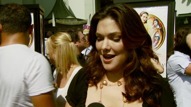 laura harring on her character and how she got involved in the film at the 'nancy drew' premiere at grauman's chinese theatre in hollywood california... - laura harring stock videos & royalty-free footage