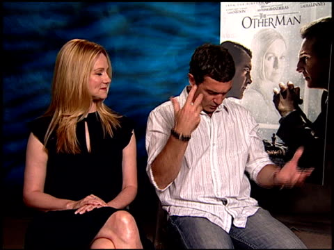 Laura Linney and Antonio Banderas on the film and what it is about at the 'The Other Man' Junket at Beverly Hills CA