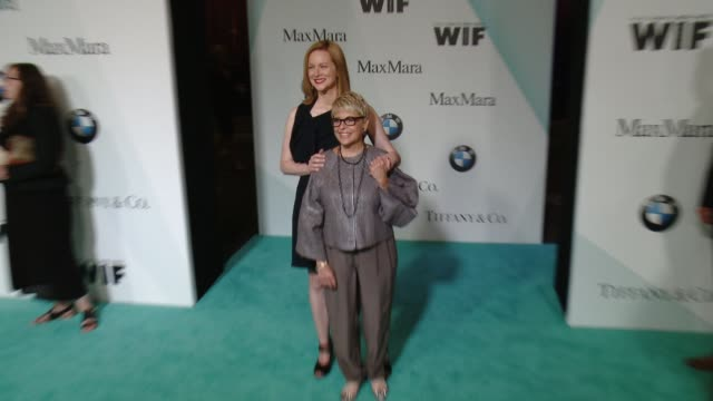 laura linney and toni howard at women in film 2015 crystal + lucy awards presented by max mara, bmw of north america and tiffany & co. at the hyatt... - century plaza stock videos & royalty-free footage