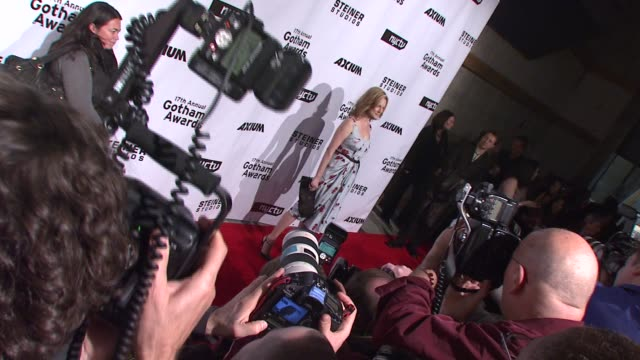 laura linney at the 17th annual gotham awards presented by ifp at steiner studios in brooklyn, new york on november 27, 2007. - independent feature project stock videos & royalty-free footage