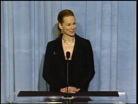 Laura Linney at the 2005 Annual Academy Awards Nominee Luncheon Interview Room at the Beverly Hilton in Beverly Hills California on February 7 2005