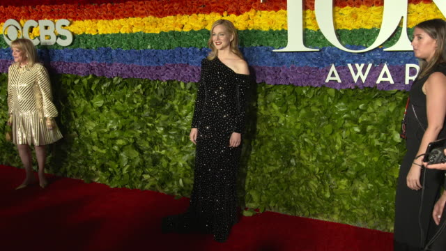 laura linney at the 73rd annual tony awards arrivals at radio city music hall on june 09 2019 in new york city - annual tony awards stock videos & royalty-free footage