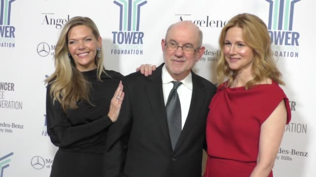 laura linney christina simpkins at tower cancer research foundation's tower of hope gala outside the beverly hilton hotel in beverly hills in... - the beverly hilton hotel stock videos & royalty-free footage