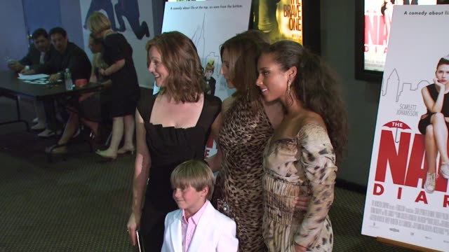 laura linney donna murphy alicia keys and nicholas reese art at the special screening of 'the nanny diaries' at cinemas 123 in new york new york on... - alicia keys stock videos and b-roll footage
