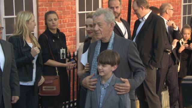 laura linney ian mckellen milo parker at mr holmes uk film premiere at odeon kensington on june 10 2015 in london england - ian mckellen stock videos and b-roll footage