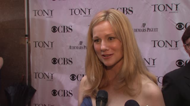 Laura Linney on being nominated tonight On what the night is all about and celebrating all the hard work On her show coming back in the fall and how...