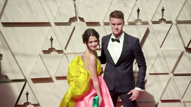 laura marano and louis virtel at the 91st academy awards arrivals at dolby theatre on february 24 2019 in hollywood california - academy awards stock videos & royalty-free footage