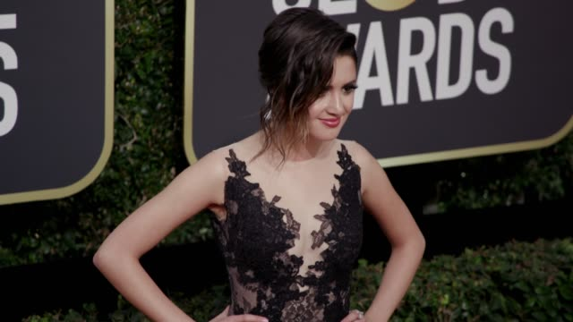 laura marano at the 75th annual golden globe awards at the beverly hilton hotel on january 07, 2018 in beverly hills, california. - the beverly hilton hotel stock videos & royalty-free footage