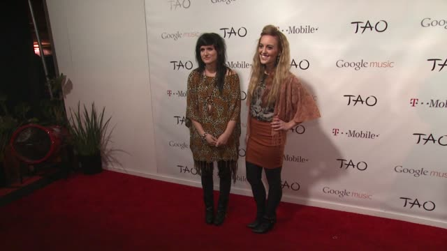 laura musten and kelsey kopecky at tmobile presents google music at tao day 4 in park city utah on 1/23/2012 - google brand name stock videos and b-roll footage