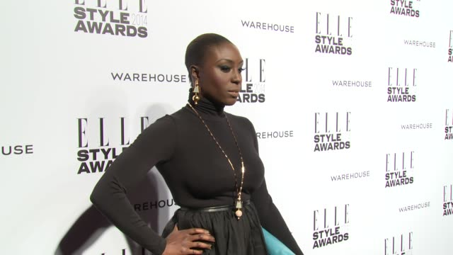 laura mvula at elle style awards arrivals at one embankment on february 18 2014 in london england - embankment stock videos and b-roll footage