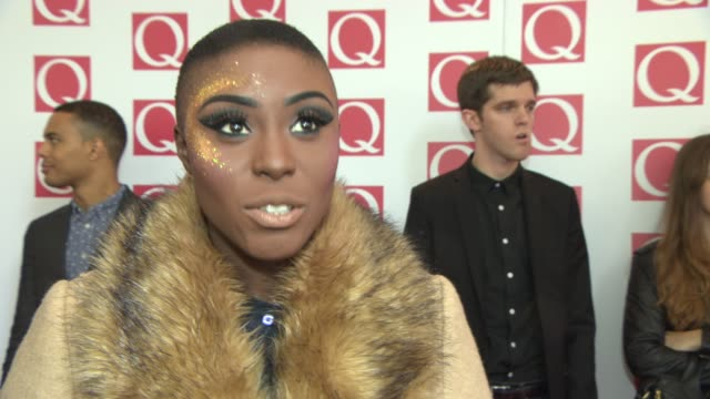 INTERVIEW Laura Mvula on her year being at the Q awards at Q Awards 2013 at The Grosvenor House Hotel on October 21 2013 in London England