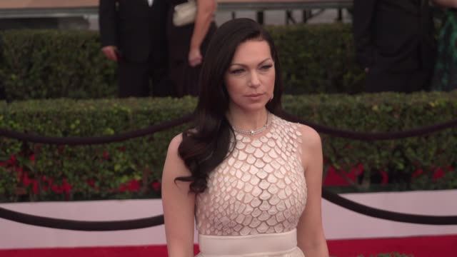 laura prepon at the 22nd annual screen actors guild awards - arrivals at the shrine auditorium on january 30, 2016 in los angeles, california. 4k... - shrine auditorium stock videos & royalty-free footage
