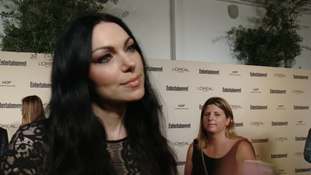 interview laura prepon on favorite television moments from this past season and on what entertainment weekly means to them at entertainment weekly's... - entertainment weekly stock videos and b-roll footage