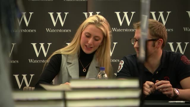 laura trott and jason kenny interview; the city: jason kenny and laura trott interview sot/ various of laura trott and jason kenny signing copies of... - autobiography stock videos & royalty-free footage