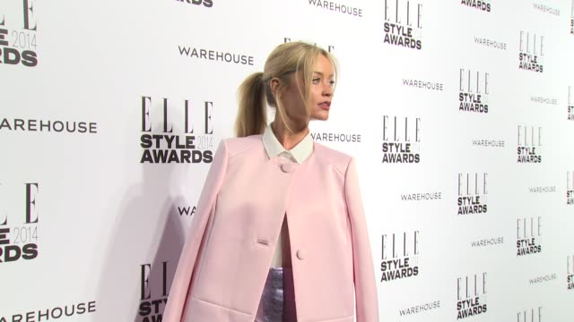 laura whitmore at elle style awards arrivals at one embankment on february 18 2014 in london england - embankment stock videos and b-roll footage