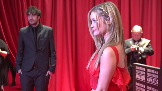 laura whitmore at the iftas at convention centre dublin, ireland on february 11th 2012 - irish film and television awards stock videos & royalty-free footage