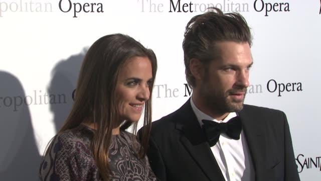 Laure Heriard Dubreuil and Aaron Young at Metropolitan Opera Gala Premiere Of Jules Massenet's Manon at The Metropolitan Opera House on March 26 2012...