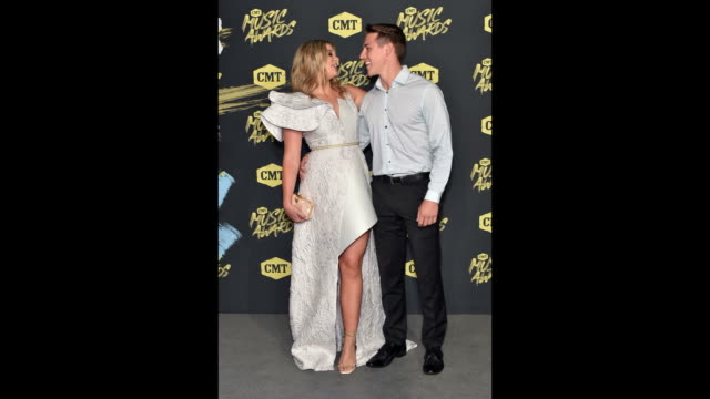 Lauren Alaina and Alex Hopkins attend the 2018 CMT Music Awards at Bridgestone Arena on June 06 2018 in Nashville Tennessee