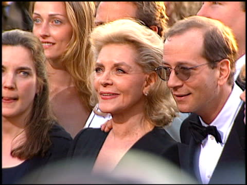 lauren bacall at the 1997 academy awards arrivals at the shrine auditorium in los angeles california on march 24 1997 - 69th annual academy awards stock videos and b-roll footage