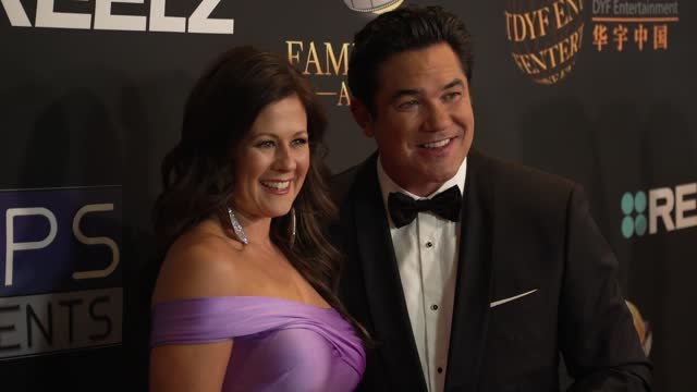 lauren bantham, dean cain at the 24th family film awards at hilton los angeles/universal city on march 24, 2021 in universal city, california. - universal city stock videos & royalty-free footage