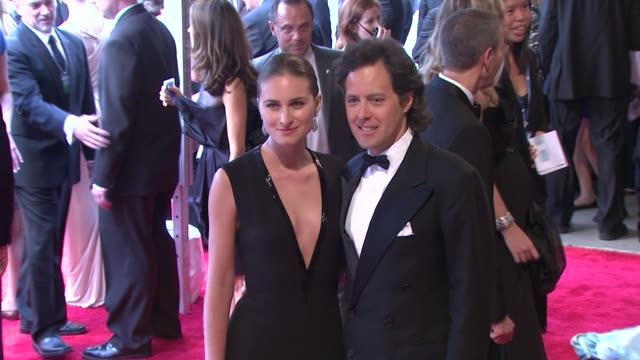 lauren bush and david lauren at the 'american woman fashioning a national identity' met gala arrivals at new york ny - lauren bush lauren stock videos & royalty-free footage