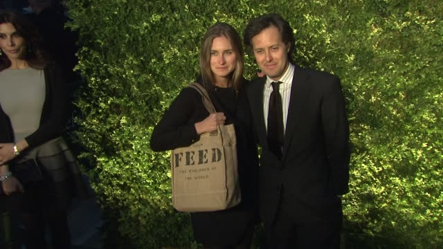 lauren bush and david lauren at the green auction bid to save the earth and runway to green fashion show at new york ny - lauren bush lauren stock videos & royalty-free footage
