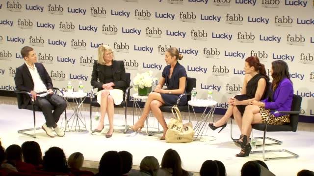 lauren bush at lucky magazine hosts fabb fashion and beauty blog conference presented by pg beauty grooming in new york 09/05/12 - lauren bush lauren stock videos & royalty-free footage