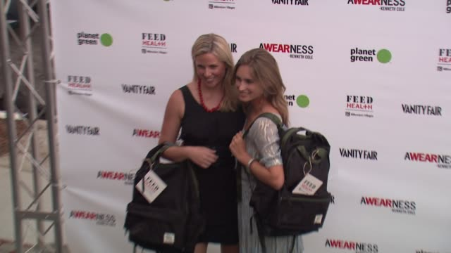 lauren bush at the kenneth cole awearness feed projects celebrate the feed health backpack at santa monica ca - lauren bush lauren stock videos & royalty-free footage