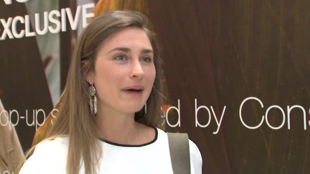 interview lauren bush lauren on feed and being part of the conscious consumer movement at hm times square on april 14 2015 in new york city - lauren bush lauren stock videos & royalty-free footage