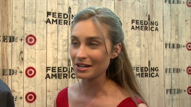 interview lauren bush lauren on how excited she is to see this all come together on what tonight is all about on why she wanted to collaborate with... - lauren bush lauren stock videos & royalty-free footage