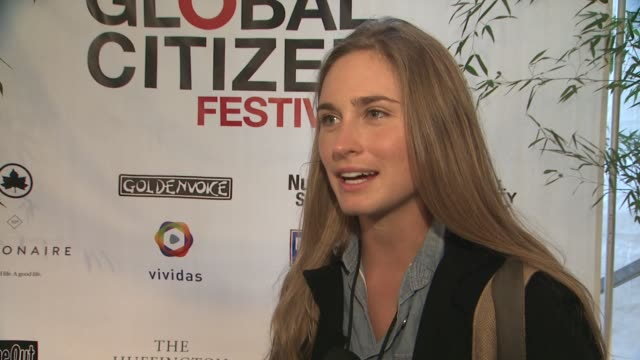 lauren bush lauren on today's event on why it's important on being a global citizen at global citizen festival in central park to end extreme poverty... - lauren bush lauren stock videos & royalty-free footage