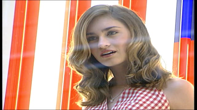 lauren bush modelling tommy hilfiger / posing for press england london sloane street ext lauren bush along in car / lauren out of car stops poses for... - window sill stock videos and b-roll footage