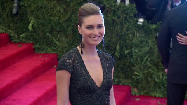 lauren bush punk chaos to couture costume institute gala at metropolitan museum of art on may 06 2013 in new york new york - lauren bush lauren stock videos & royalty-free footage