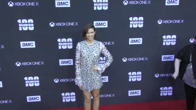 Lauren Cohan at AMC's The Walking Dead 100th Episode Season 8 Special Premiere Screening at The Greek Theatre on October 22 2017 in Los Angeles...