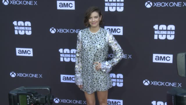 Lauren Cohan at the AMC's The Walking Dead 100th Episode Season 8 Special Premiere Screening at The Greek Theatre on October 22 2017 in Los Angeles...