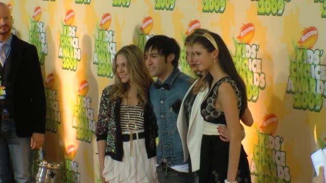 Lauren Collins Pete Wentz Miriam McDonald Nina Dobrev at the Nickelodeon's 22nd Annual Kids' Choice Awards at Los Angeles CA