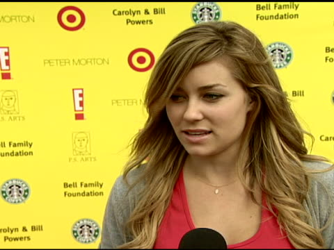 Lauren Conrad on the importance of having art education in public schools and on attending the event at the Celebrating the 10th Anniversary of...