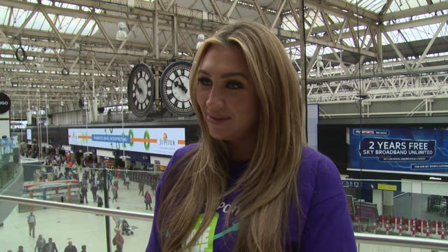 interview lauren goodger on the samaritans growing up and smartphone apps at lauren goodger launches samaritans' new fundraising day phone free... - computer software stock videos & royalty-free footage