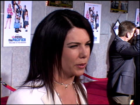 lauren graham at the premiere of 'the pacifier' at the el capitan theatre in hollywood, california on march 1, 2005. - el capitan theatre stock videos & royalty-free footage