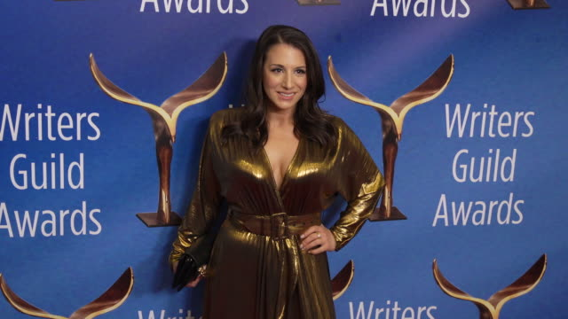 lauren greenberg at the 2020 writers guild awards at the beverly hilton hotel on february 01, 2020 in beverly hills, california. - the beverly hilton hotel stock videos & royalty-free footage