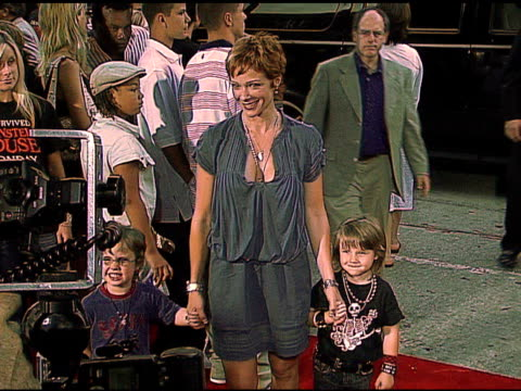 lauren holly and kids at the 'monster house' los angeles premiere on july 18 2006 - lauren holly stock videos and b-roll footage
