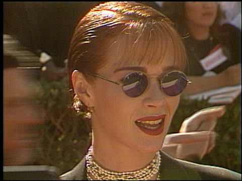 lauren holly at the 1993 emmy awards entrances at the pasadena civic auditorium in pasadena california on september 19 1993 - lauren holly stock videos and b-roll footage