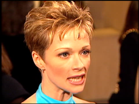 lauren holly at the afi honors honoring clint eastwood entrances at the beverly hilton in beverly hills california on march 1 1996 - lauren holly stock videos and b-roll footage