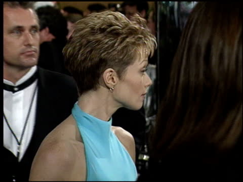 lauren holly at the afi honors honoring clint eastwood press room at the beverly hilton in beverly hills california on march 1 1996 - lauren holly stock videos and b-roll footage