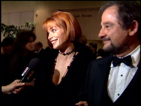 lauren holly at the director's guild awards 94 at the beverly hilton in beverly hills california on march 5 1994 - lauren holly stock videos and b-roll footage